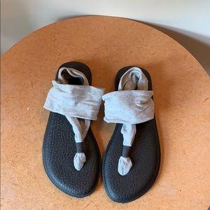Sanuk yoga strap sandals!